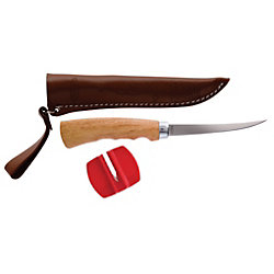 Berkley® Wooden Handle Fillet Knife-4in