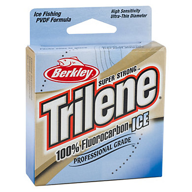 Trilene 100 fluorocarbon ice berkley for Fluorocarbon fishing line
