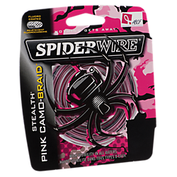 SpiderWire Stealth® Pink Camo Braid™